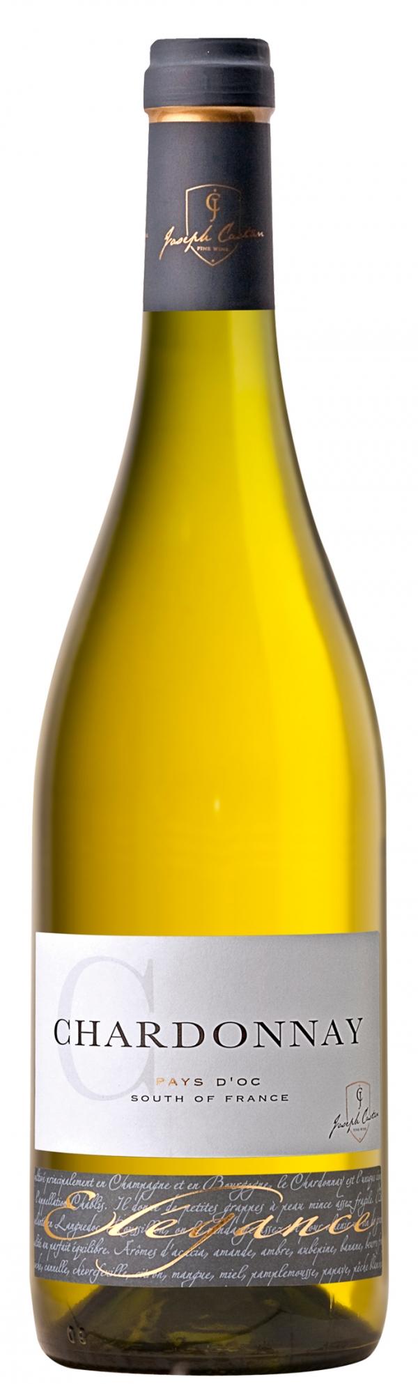 Бяло Вино Жозеф Кастан, Елеганс Шардоне, Пей д'Ок, 0.75 л
