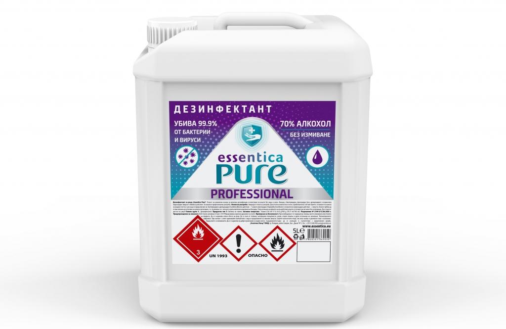 Дезинфектант за Повърхности Essentica Pure 5 л