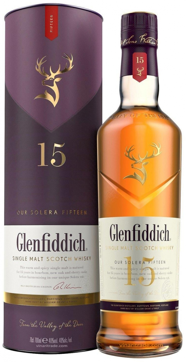 Уиски Гленфидих 15 годишен 0.7 л