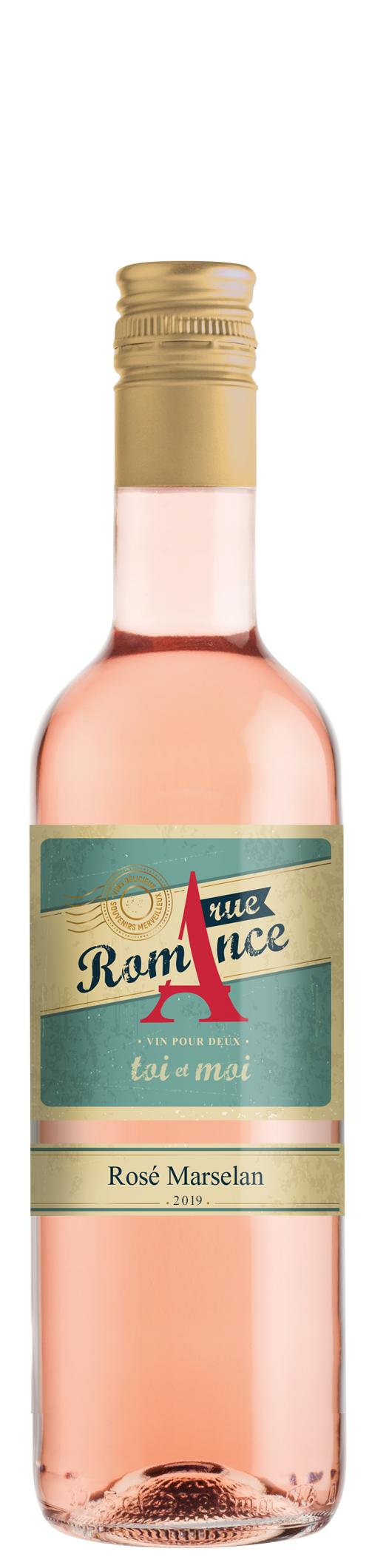 Вино Рю Романс Розе от Марселан, 0.375 л, Домейн Бойар