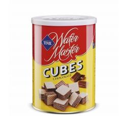 Вафлени Кубчета Мастър Шоколад 220 гр Метална Кутия