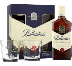 Уиски Балантайнс 0.7 л с Две Чаши